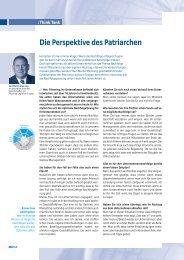 Die Perspektive des Patriarchen - Pfenning Logistics