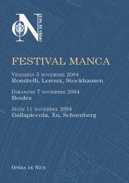 FESTIVAL MANCA - Cirm