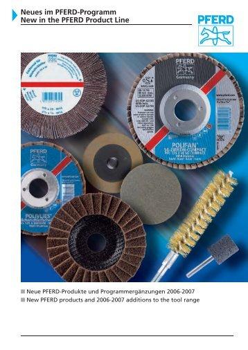 Neues im PFERD-Programm 208 PFERD Product Line 208 - News
