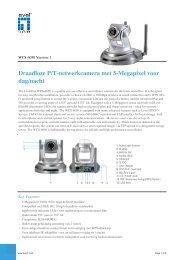 Draadloze P/T-netwerkcamera met 5-Megapixel voor dag/nacht