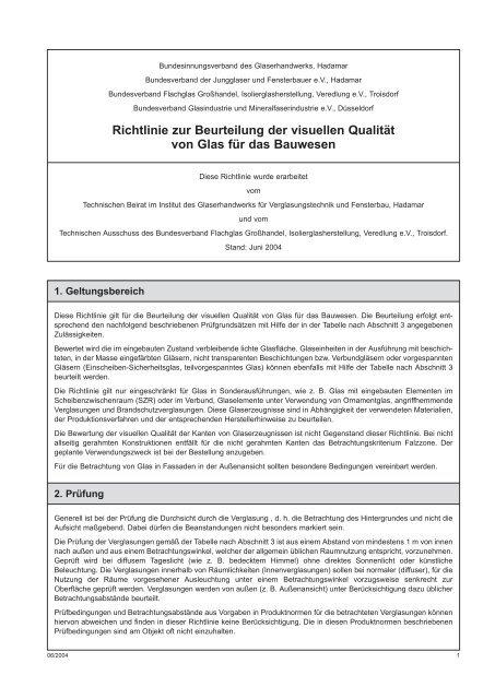 Richtlinie zur Beurteilung von Isolierglas - Luxfen