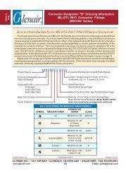 Ordering Information MIL-DTL-5015 Connector Fittings - Glenair