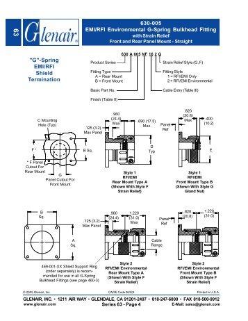 Glenair Series 630-005 Spec Sheet