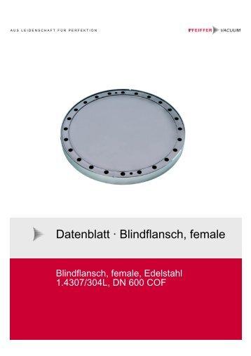 Blindflans ch, female - Pfeiffer Vacuum