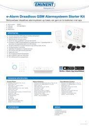 EMxxxx e-Alarm Draadloos GSM Alarmsysteem Starter Kit - WalTin
