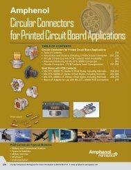 Circular Connectors for Printed Circuit Board Applications