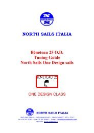 NORTH SAILS ITALIA Bénéteau 25 O.D. Tuning Guide ... - Platu 25