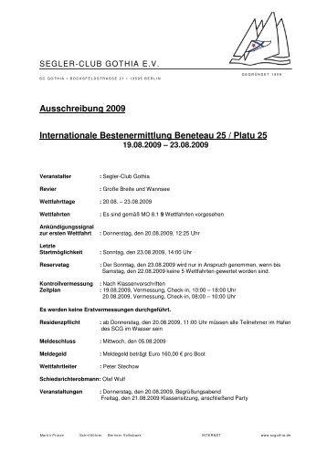 Ausschreibung 2009 Internationale Bestenermittlung ... - Platu25.de