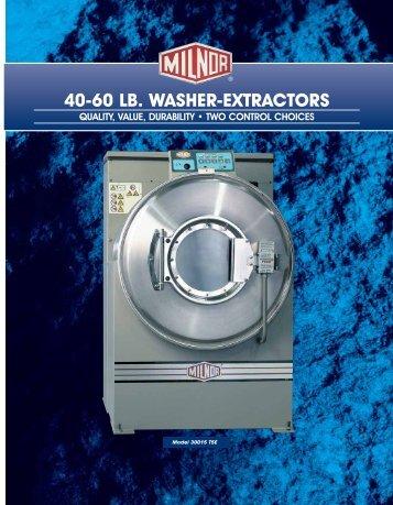 40-60 LB. WASHER-EXTRACTORS