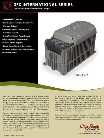 GFX International Series Inverter Data Sheet - African Energy