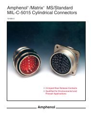 Amphenol /Matrix MS/Standard MIL-C-5015 ... - HS   electronics