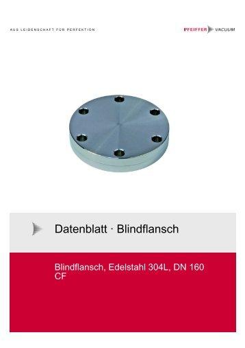 Datenblatt · Blindflansch, fest - Pfeiffer Vacuum