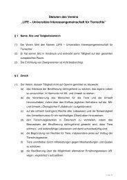 Vereinsstatuten_LIFE_nach GV - LIFE - Universitäre ...