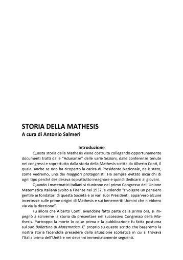 2. Nasce l'Associazione Mathesis - Euclide. Giornale di matematica ...