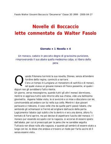 Novelle di Boccaccio lette commentate da Walter Fasolo - Virgilio