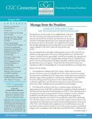 Summer 2011 E-Newsletter - Center for Guardianship Certification