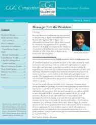 Fall 2009 E-Newsletter - Center for Guardianship Certification