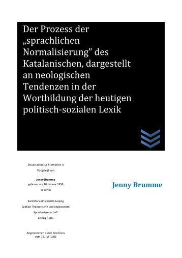 """Der Prozess der """"sprachlichen Normalisierung"""" des ... - Traces"""