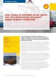 Shell AlexiA S4 provideS royAl Arctic line with operAtionAl reliAbility ...