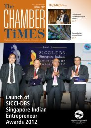 October 2012 - Singapore Indian Chamber of Commerce and Industry