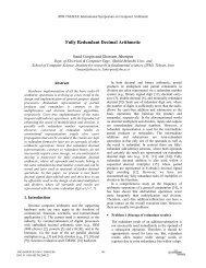 Fully Redundant Decimal Arithmetic - Shahid Beheshti Faculties and ...