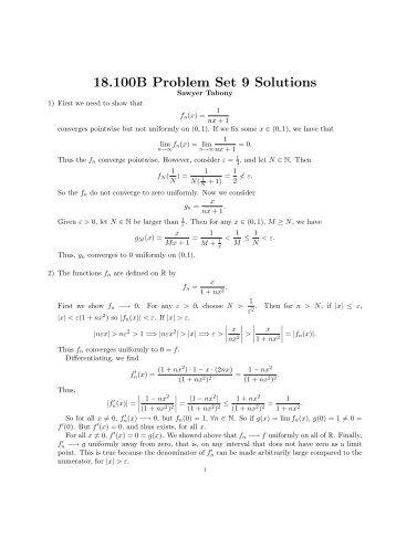 18.100B Problem Set 9 Solutions - DSpace@MIT