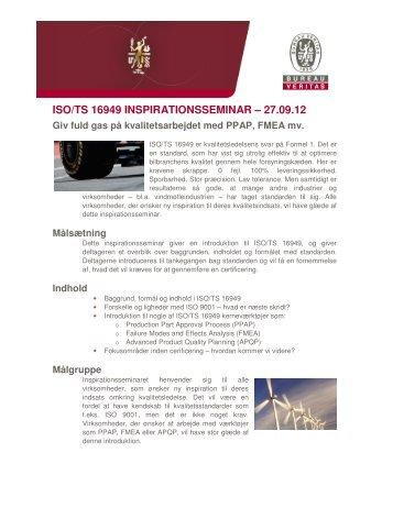 ISO/TS 16949 INSPIRATIONSSEMINAR – 27.09.12 - Bureau Veritas
