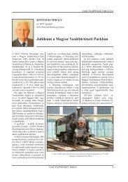 Jubileum a Magyar Vasúttörténeti Parkban - Vasútgépészet