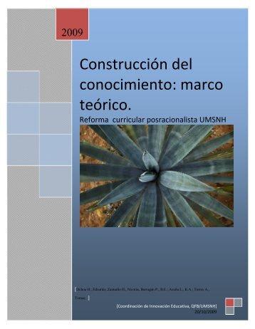Construcción del conocimiento: marco teórico. - CIE - Universidad ...