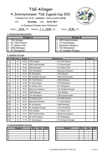 PDF - TSG Ailingen - Fußball