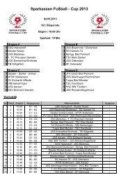 Sparkassen Fußball - Cup 2013 - AWesA