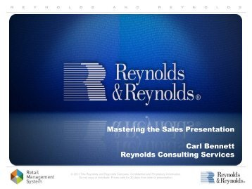 Mastering the Sales Presentation - Reynolds and Reynolds