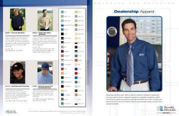 Apparel Brochure - Reynolds and Reynolds