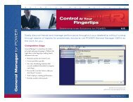Control At Your Fingertips - Reynolds and Reynolds