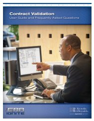ERA/ERA-IGNITE Contract Validation User Guide - Reynolds and ...