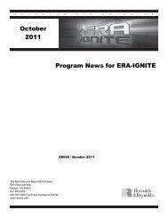 Program News for ERA-IGNITE v.20.5 October 2011 - Reynolds and ...