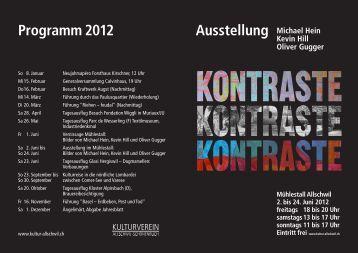 Infos zur Ausstellung - Kulturverein Allschwil-Schönenbuch