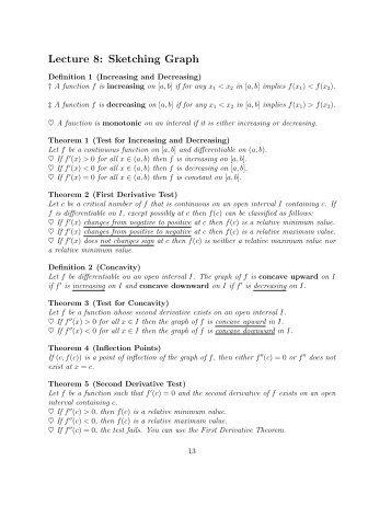concepts worksheet 7 graph sketching using derivatives. Black Bedroom Furniture Sets. Home Design Ideas
