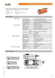 Mechanical Fail-Safe Damper Actuator SFU - Belimo Actuators ...