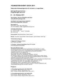 YOUNGSTER-EVENT GOCH 2011 - Club der Pferdefreunde eV