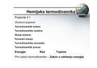 Hemijska termodinamika - Fakultet za fizičku hemiju