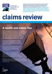 Claims Review 24 - ITIC
