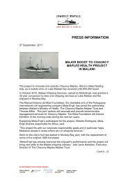 Chauncy Maples Press Release 2011-09-27 - Thomas Miller