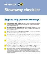 Loss prevention - Stowaway checklist - Thomas Miller