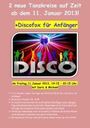 2 neue Tanzkreise auf Zeit ab dem 11. Januar 2013! •Discofox für ...