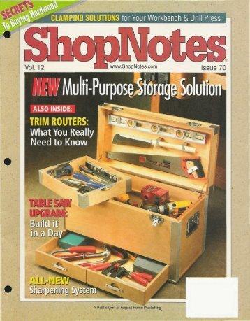 ShopNotes #70 (Vol. - MetosExpo - Free
