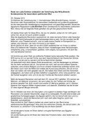 Rede von Laila Soliman anlässlich der Verleihung des Willy-Brandt ...