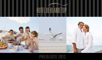 PREISLISTE 2012 - De Blanke Top