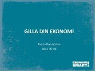 Bilaga 3 – Projekt Ekonomismart - Gilla Din Ekonomi