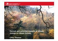 Current and potential impacts of climate change on ... - FUTUREforest